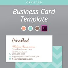 15 excellent indesign templates for free indesign pinterest cute business card template indesign by bootstrapcreative on etsy reheart Gallery