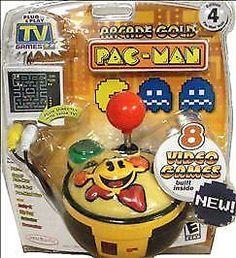 ARCADE GOLD Pac-Man TV Games Plug N Play SEALED JAKKS 8 in 1 #PacMan #pacman
