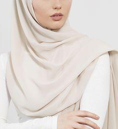 Oatmeal Soft Crepe Hijab - £11.90 : Inayah, Islamic Clothing & Fashion, Abayas, Jilbabs, Hijabs, Jalabiyas & Hijab Pins