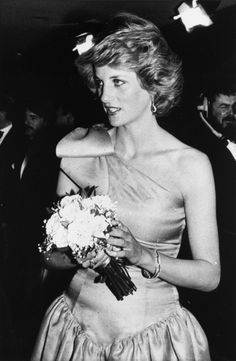 "March 18, 1985: Charles, Diana, Princess Anne, & Queen Mother at the Odeon Leicester Square for the film premiere of ""A Passage to India"""
