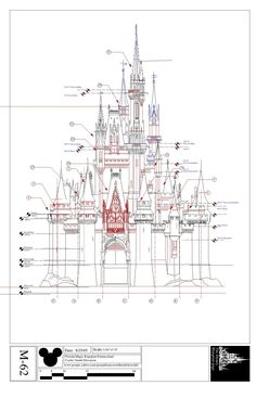 Disney Imagineering | Blueprints for Cinderella's Castle ,WDW