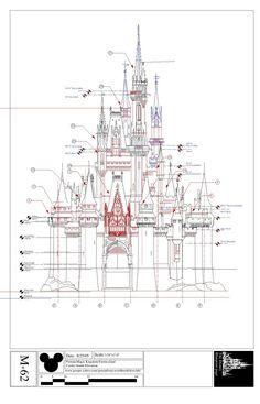 Disney Imagineering   Blueprints for Cinderella's Castle ,WDW