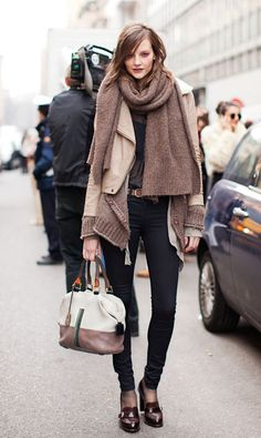 Scarf, Jacket and cardigan