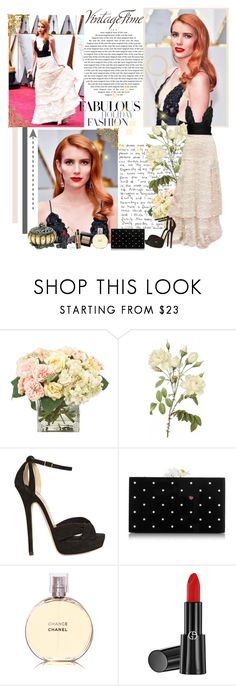 """Emma Roberts - Oscars 2017"" by gabo27 ❤ liked on Polyvore featuring INC International Concepts, Alba Botanica, Jimmy Choo, Charlotte Olympia, Tag, Chanel, Giorgio Armani and vintage"