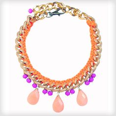 as seen on Made in Chelsea http://www.cottonandgems.com/jewellery/necklaces/clare-hynes-jia-purple-orange-necklace