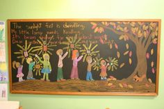 I wish I had the skills to make my daughter chalkboard drawings like these.