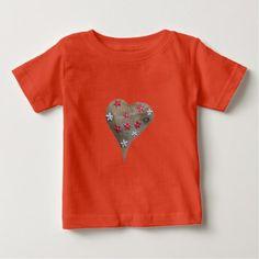 Heart with Decorative Ornaments Baby T-Shirt - Saint Valentine's Day gift idea couple love girlfriend boyfriend design