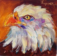 """CONTEMPORARY BALD EAGLE PAINTING by OLGA WAGNER"" - Original Fine Art for Sale - © Olga Wagner"