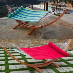 Big Daddy Deluxe Sunbrella® Arc Wood Hammock