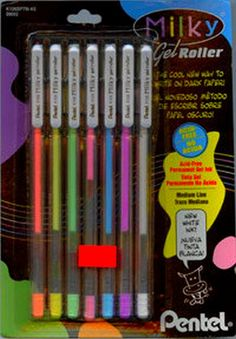 Milky pens and black paper! LOVED THESE!!!