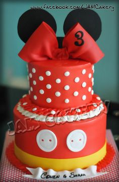 Mickey and Minnie cake for a joint party