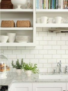 Kitchen White Subway Tile beveled subway tile with grey grout | kitchen | pinterest