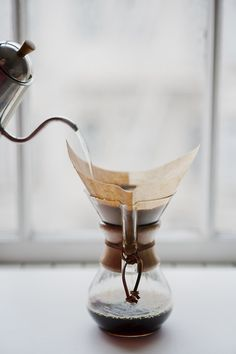chemex coffee with yoshikawa drip pot - although I only drink decaf I do like it perfect