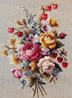 This Pin was discovered by Ayf Easy Cross Stitch Patterns, Cross Stitch Bird, Simple Cross Stitch, Cross Stitch Flowers, Cross Stitch Charts, Cross Stitch Designs, Cross Stitching, Cross Stitch Embroidery, Hand Embroidery
