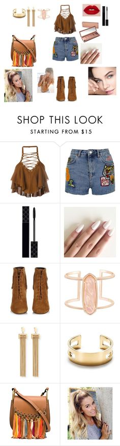 """Myoutfittoday"" by ilary-puopolo ❤ liked on Polyvore featuring Balmain, Topshop, Gucci, Urban Decay, Yves Saint Laurent, Kendra Scott, Chloé and Tiffany & Co."