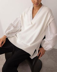 #fineknitvest #jumper #oversize #oversized #cozyimage #style #springstyle #bluefineknitvest #lookforeveryday #highcollar #streetstyle #designerclothers #disignersweater #fashion #vintage #fashionphotography #fashionlook #fashionset #outfit2021 #lichibrand Spring Fashion, Winter Fashion, Knit Vest, Online Fashion Stores, High Collar, Fashion Photography, Bell Sleeve Top, Fashion Looks, Street Style