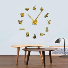 Dental Pattern Wall Clock for Ultimate Dentist Office Decor Giant Wall Clock, Wall Clocks, Office Waiting Rooms, Ikea, Dental Office Design, Instruments, Smooth Walls, Modern Wall Decor, Metal Homes