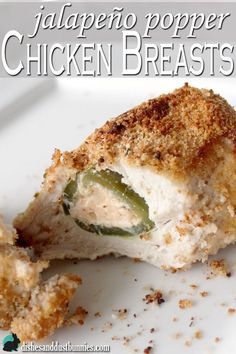 Jalapeno Popper chicken breasts from dishesanddustbunnies.com