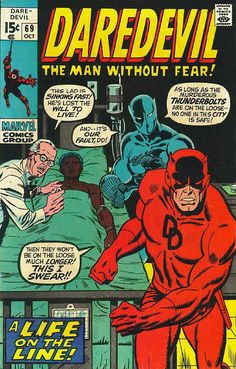 Cover for Daredevil (Marvel, October [Regular Edition] Marvel Comics, Marvel Comic Books, Marvel Heroes, Comic Books Art, Book Art, Marvel Vs, Captain Marvel, Caricature, Sal Buscema