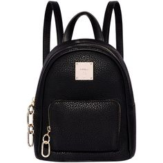 Fiorelli Bono Mini Backpack (260 RON) ❤ liked on Polyvore featuring bags, backpacks, accessories, backpack, black, crossbody backpack, mini rucksack, backpack crossbody, day pack backpack and travel crossbody