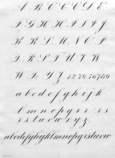 Copperplate Calligraphy exemplars - Google Search