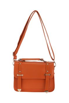 retro orange satchel