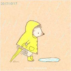 1308 雨降り rainy days レインコートと長靴、引きずる傘、というモチーフが好きなので、繰り返し出てきます。悪しからず。