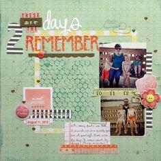 """Days to Remember"" - Ashley Horton Designs #scrapbooking"