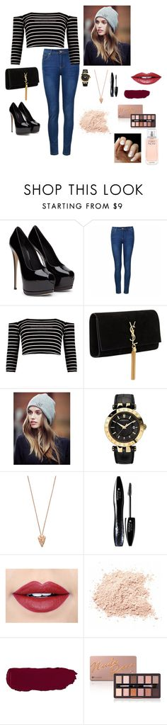 """""""Untitled #21"""" by lysndrsp on Polyvore featuring Ally Fashion, Yves Saint Laurent, Lipsy, Versace, Pamela Love, Lancôme, Fiebiger and Calvin Klein"""