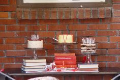 Use books for decorating your table.