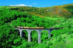 France,Pyrénées Orientales, train jaune en été  @Paul Palau