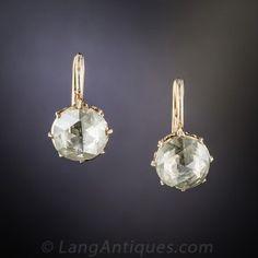 Antique Rose-Cut Diamond Stud Earrings