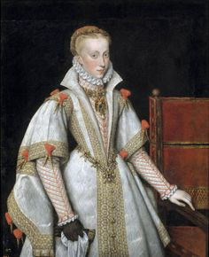 Philip of Spain married 4 times: his fourth,  last, and mother of his heir: his niece, Anne of Austria. Eldest daughter of Holy Roman Emperor Maximilian II and Maria of Spain. Her parents were first cousins: both were grandchildren of the daughter of King Ferdinand II of Aragon and Queen Isabella I of Castile, Joanna of Castile.