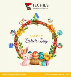 Techies Software Solutions Wishing a blessed and memorable Easter to our customers. May you celebrate this day with your loved ones over feasts and laughter. Happy Easter 🎉 Happy Easter Day, Laughter, First Love, Software, How To Memorize Things, Blessed, Marketing, First Crush, Puppy Love
