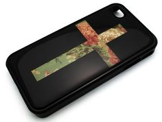 BLACK Snap On Hard Case IPHONE 4 4S Plastic Skin Cover - Green Floral Vintage Cross flower rose cute. Made up with high quality PC and TPU material. We can provide custom phone cases with any design for you. If you want, please contact us!. Design/Finish: Glossy, Printed all around the corners and edges!. Product is made of high quality materials. Fashion Phonel Case New.