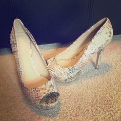 "Aldo Snake Skin Peep Toe Pumps Cute ALDO Snakeskin Peep Toe Pumps. Worn once for about 2 hours! 4"" heel ALDO Shoes Heels"