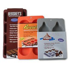 Hershey's silicone bakeware, want these for my homemade Reese's