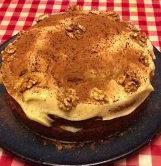Tiramisu style coffee and walnut cake
