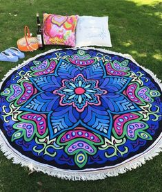 Hot Fashion Indian Mandala Tapestry Wall Hanging Bohemian Bedspread Decor Durable Yoga Blanket Printed Round Beach Towels Fine Craftsmanship Home & Garden Bedding