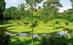Ascott House Gardens, Buckinghamshire, UK | National Trust gardens with interesting land art features