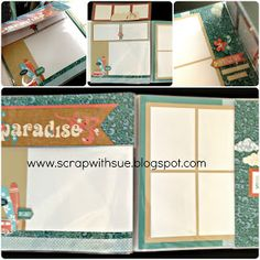 CTMH Surf's Up Paradise Layout with Flip Flaps. www.scrapwithsue.blogspot.com
