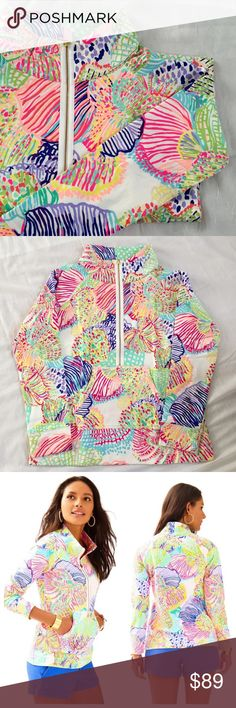 Lilly Pulitzer popover Multi Roar of the Sea Brand new with tags this Lilly Pulitzer popover is in Multi Roar of the Sea print. Gorgeous, vibrant, and comfort all in one! Lilly Pulitzer Tops Sweatshirts & Hoodies