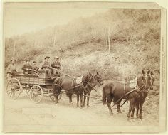 Wells Fargo Express Co. Deadwood Treasure Wagon and Guards with $250,000 gold bullion from the Great Homestake Mine, Deadwood, S.D., 1890