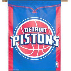 Detroit Pistons 27x37 Team Logo Banner Flag - $19.99
