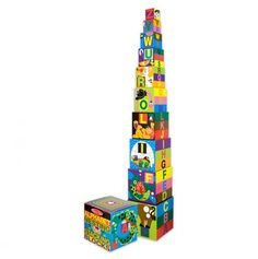 Alphabet Nesting and Stacking Blocks - Love Melissa and Doug's wooden toys :)