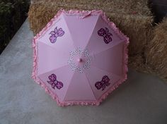 Light Pink Poppins Inspired Parasol Umbrella Ready to Ship and Personalize by LoRensRainorShine on Etsy