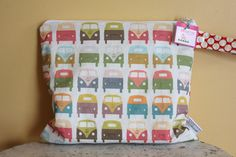 Wet Bag wetbag Diaper Bag - vw bus ICKY Bag by PETUNIAS - swim cloth diaper accessories zipper shower gift newborn baby child kids summer. $26.00, via Etsy.