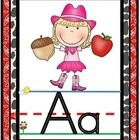 Decorate your western themed classroom and help students learn capital and lowercase letters and letter sounds with these fun alphabet posters.  In...