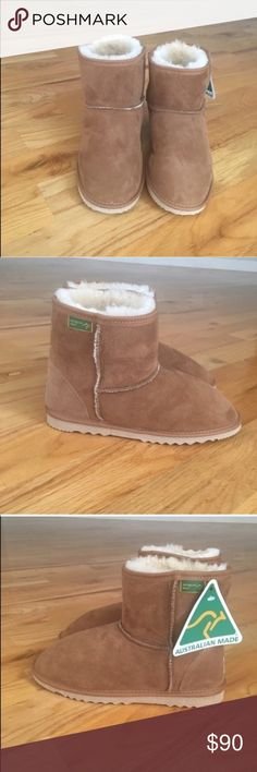 UGG Classic Mini, Chestnut Brand NWT | Women's SZ 9 / Men's SZ 8 | Too big for me, so I'm selling!  UGG - INSPIRED  ✔️ Seller's Note: Although these boots look very close to being authentic, they aren't. I bought them from a lady online whom failed to tell me that I was buying an UGG dupe + They are way TOO big for me! That's why the price is discounted so much + Take this into consideration, before buying. UGG Shoes Ankle Boots & Booties