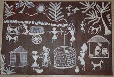 """Warli Painting"" by Nidhi Gujarathi"